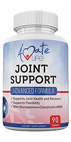 Joint Support Advanced Formula with Glucosamine and Chondroitin- Dietary Supplements for Joint Relief Pain- All-Natural Ingredients Anti-Inflammatory Capsules for Men and Women- 90 Tablets- Non-GMO