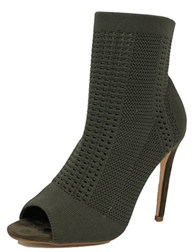 Robbin Womens Knitted Ankle Bootie