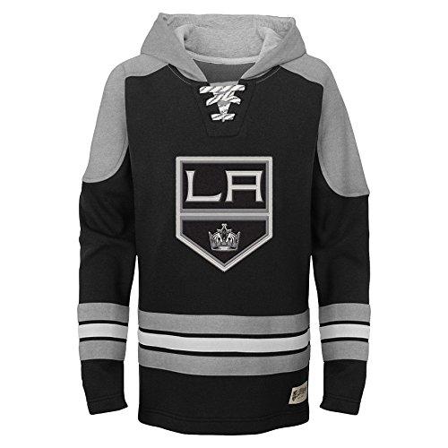 cea771f3cdd09 Outerstuff NHL Youth Boy's Legendary Hoodie, Black, Medium(5-6)