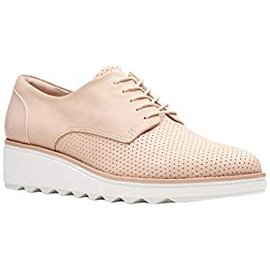 CLARKS Womens Sharon Crystal Lace Up Shoes