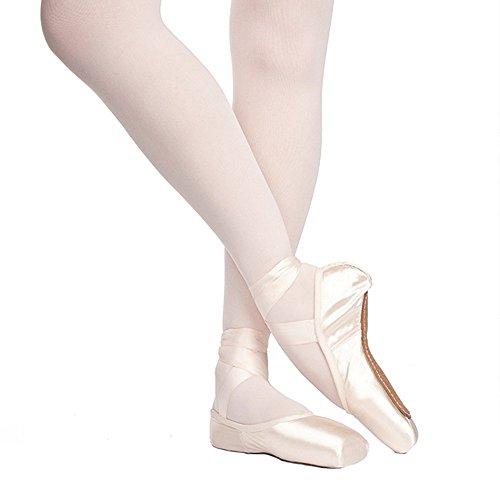 Russian Pointe Rubin Pointe Shoes, U-Cut Flexible Soft Shank - Size 37, Width 2, Vamp V2