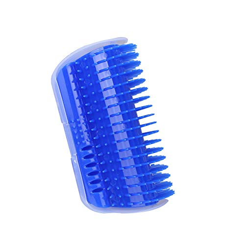 V-win Pet Groomer Massager, Pet Self Groomer Massage Comb, Catnip Grooming Brush Grooming Toy (Blue)