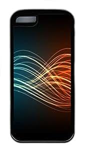iPhone 5C Case Colourful Waves TPU Custom iPhone 5C Case Cover Black