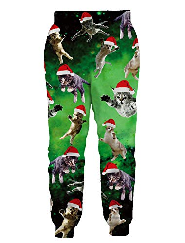 TUONROAD Unisex 3D Graphic Joggers Pants Funny Casual Sports Sweatpants for Men & Women