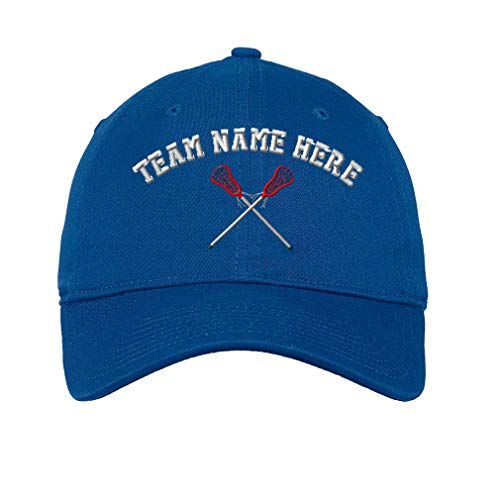 a9c5b28433fa6 Custom Low Profile Soft Hat Lacrosse Sports D Embroidery Team Name Cotton Dad  Hat Flat Solid Buckle - Royal Blue