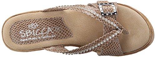 Sandal Snake Wedge Horizon Sbicca Women's Snake Taupe Z6I6q4nazA