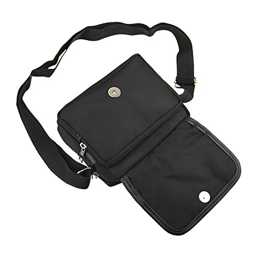 Casual Style Multi Body Messenger Cross Lightweight Bag Should Shoulder pocket Sling Strong Black Nylon rr0w8Cxdq