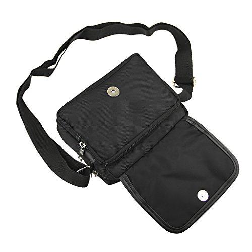 Messenger Cross Black Should Shoulder Bag Lightweight Multi Sling Nylon Style Casual Body Strong pocket wCYvvq
