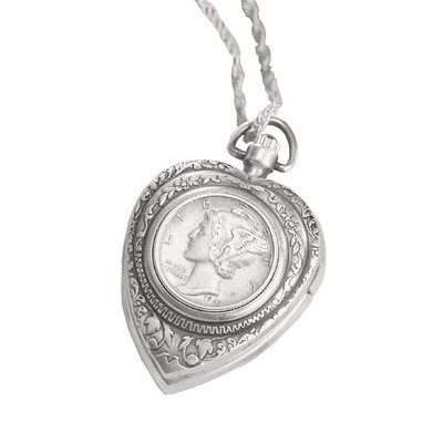 Mercury Dime Heart (American Coin Treasures Mercury Dime Heart Pendant and)