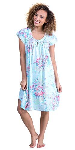 Miss Elaine Cottonessa Short Sleeve Short Gown (204819) M/Spring Pattern Floral