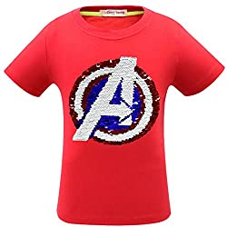 Flip Sequins Cotton T-Shirt for Boys