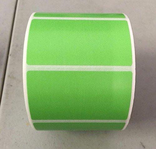 4 Rolls 2.25 x 1.25 Direct Thermal Labels GREEN 1000 Labels Per Roll Zebra / Eltron Printer Compatible 1