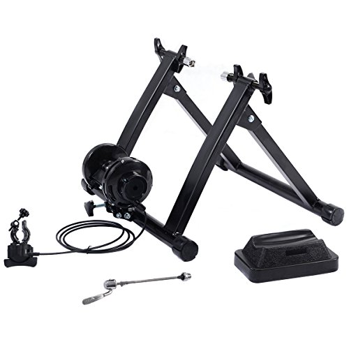 Giantex Magnetic Indoor Bicycle Bike Trainer Exercise Stand 5 levels of Resistance by Giantex