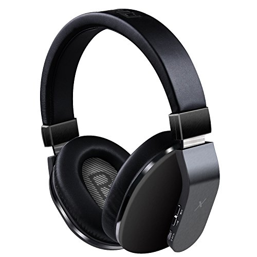 Riwbox XBT-780 Bluetooth Headphones Over Ear, Noise Isolatio V4.1 Wireless Headset with Volume Control, w/Built-in Mic and Wired Mode for PC/ Cell Phones/ TV (Black)