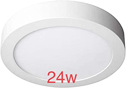 Pack 2x Plafon LED Redondo superficie 24w. Color Blanco Frío (6500K). 2000 lumenes. Diámetro 300mm. A++: Amazon.es: Iluminación
