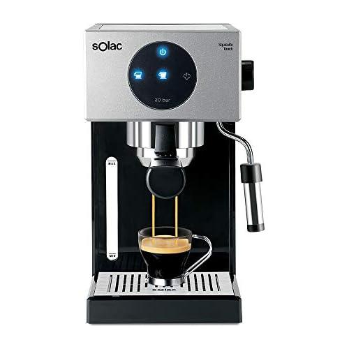 chollos oferta descuentos barato Solac CE4552 Squissita Touch Cafetera espresso 1 5 l 1000 W portafiltros para 1 o 2 cafés táctil auto parada auto off double cream vaporizador Multicolor