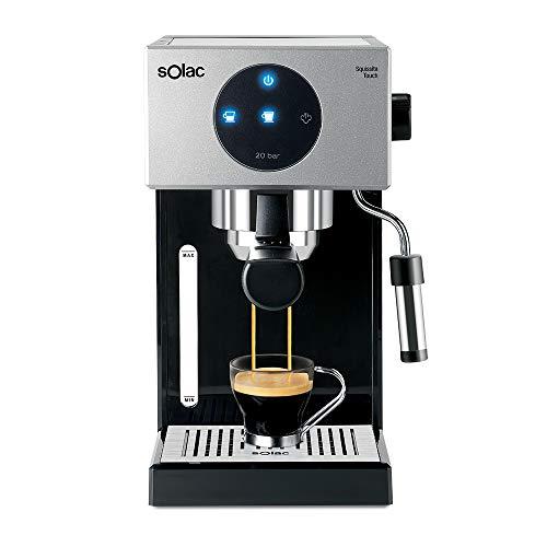 Solac CE4552 Squissita Touch – Cafetera espresso, 1.5 l, 1000 W, portafiltros para 1 o 2 cafés, táctil, auto-parada…
