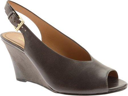 Nine West Women's Fanciefay Wedge Sandal,Dk Grey Leather,10 M US
