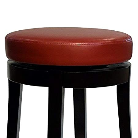 Armen Living Mbs-450 Backless Swivel Barstool Red 30-Inch