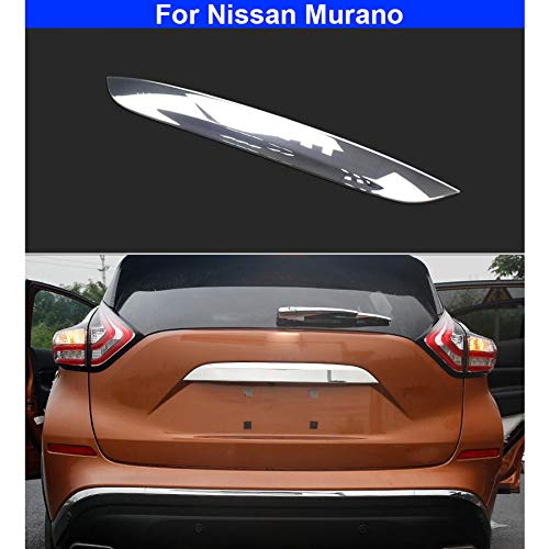 (yingde 1pcs New ABS Chrome Car Back Trunk Rear Trunk Lid Cover Molding Trim Trim for Nissan Murano 2015 2016 2017 2018 2019)