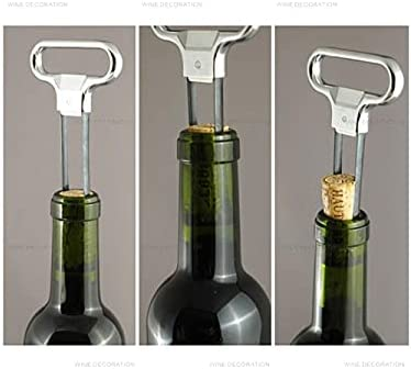 Sacacorchos de vino, extractor de corcho de dos puntas, sacacorchos portátil, extractor de corcho de dos mordazas, extractor de sacacorchos con tapa, amantes del vino champán