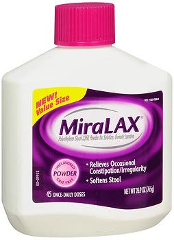 Miralax Laxative Powder for Solution Unflavored - 26.9 oz, Pack of 5
