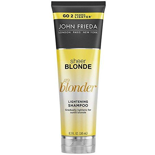 John Frieda Shampoo Sheer Blonde Go Blonder Lightening 8.3 Ounce (245ml) (2 Pack)