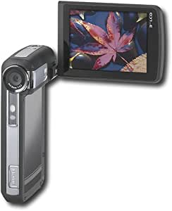 Insignia NS-DCC5HB09 - Camcorder - High Definition with digital player/voice recorder - widescreen - 5.0 Mpix - supported memory: SD, SDHC, flash card
