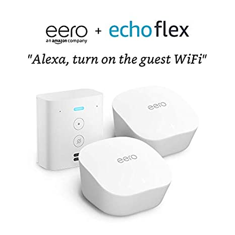 2 Pack with Echo Flex eero Mesh wifi system
