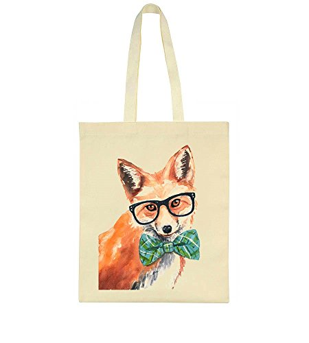 With Glasses Nerdy Hipster Fox Tote Bag qFqfEnwx