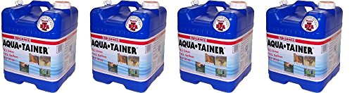 Reliance Products Aqua-Tainer 7 Gallon Rigid Water Container (4-PACK) by Reliance Products
