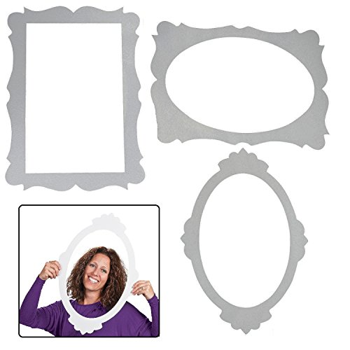 3 Picture Frame Cutouts - Party Decorations & Wall Decorations by Fun - Frame Cardboard Photo Booth