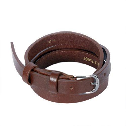 Raphael Rossetti Alke Women's Leather Belt (Brown) - Brown Designer Belts