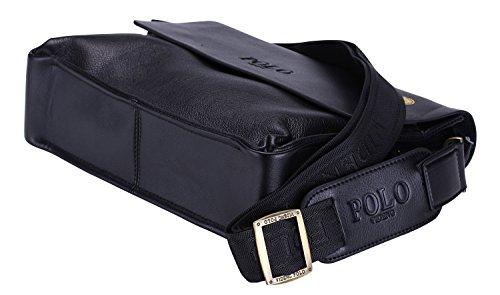 498217d69e02 VIDENG POLO Newest Men s Genuine Leather RFID Blocking Secure Briefcase  Shoulder Messenger Bags (C2-