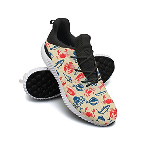 Seafood Fish Food Leisure Fashion Running Shoes Young Men Printing Climbing Active