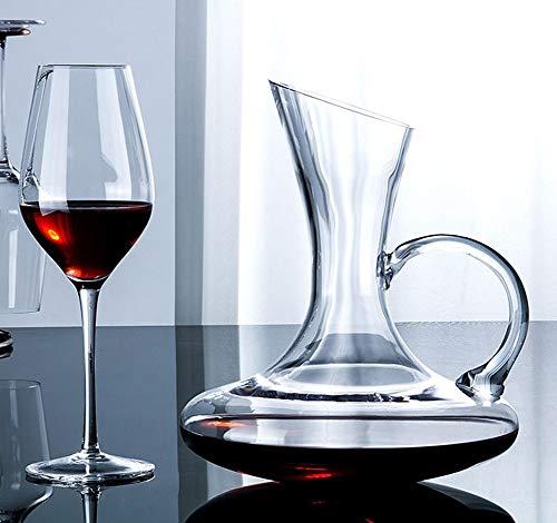 Decantador XINGUANG Jarra Oblicua del Vino Rojo del Vino cristalino de la Jarra 1.6L con la Jarra del Vino Purificador de Vino (Color : B): Amazon.es: ...