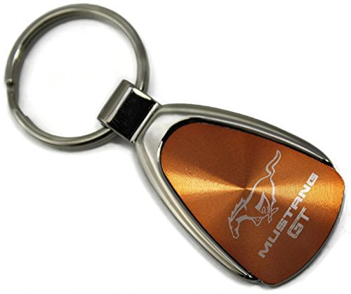 Ford Mustang Logo Orange Tear Drop Key Chain DanteGTS
