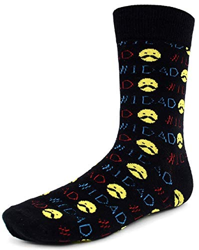 Men's Fun Crew Socks, Sock Size 10-13/Shoe Size 6-12.5, Great Holiday/Birthday Gift (#1 Dad) (Best Cat Names Ever)