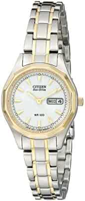 Citizen Women's Eco-Drive Sport Two-Tone Watch with Date, EW3144-51A
