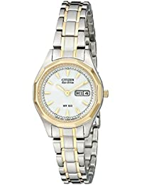 Women's Eco-Drive Sport Two-Tone Watch with Date, EW3144-51A