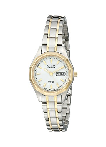 Watch 100m Sports (Citizen Women's Eco-Drive Sport Two-Tone Watch with Date, EW3144-51A)