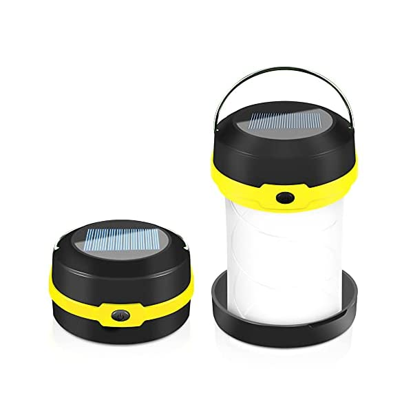 41ajjC%2B0sbS Molbory Camping Laterne Taschenlampe Zusammenklappbar, 2 Lademethoden Solar und USB mit 3 Lichtmod Faltbare Camping…