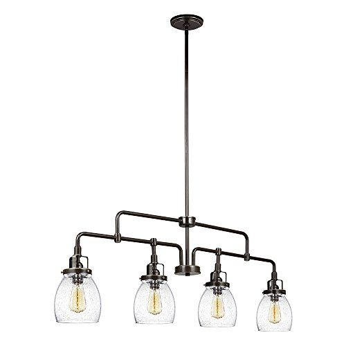 Sea Gull Lighting 6614504-782 Belton Four Light Island-Pendant, Heirloom Bronze Finish