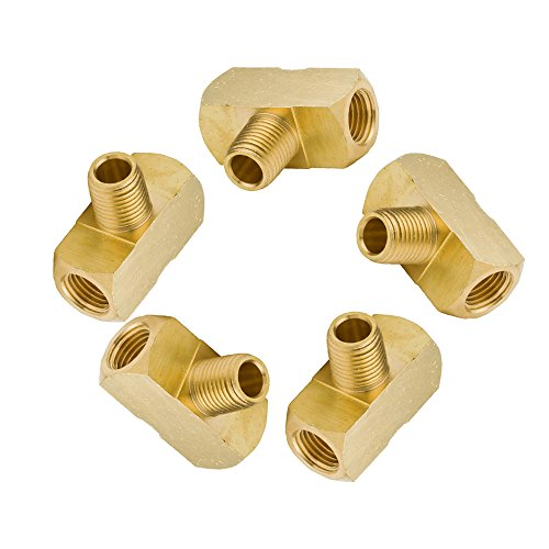 Vis Brass Pipe Fitting, Barstock Male Branch Tee, 1/8