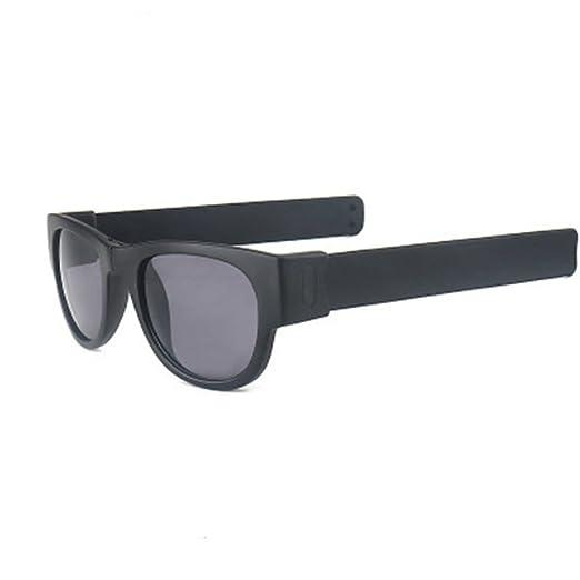 2ad1e2dddb Doober Slap Sunglasses Fashion Creative Wristband Slappable Glasses Snap  Bracelet Bands (Black