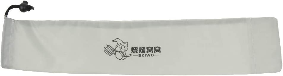 kesoto Skewers Storage Pouch Roasting Sticks Drawstring Carry Bag Garden Party Picnic BBQ Great for Outdoor Camping