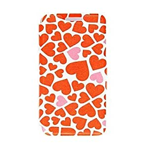 LCJ Kinston the Ocean of Heart Pattern PU Leather Full Body Case with Stand for iPhone 4/4S by ruishername
