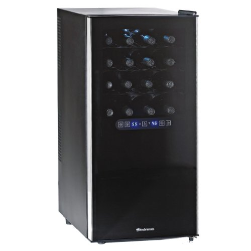 Wine Enthusiast Silent 32 Bottle Touchscreen Wine Refrigerator (2-Temp)