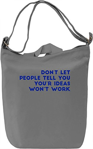 Your Ideas Borsa Giornaliera Canvas Canvas Day Bag| 100% Premium Cotton Canvas| DTG Printing|