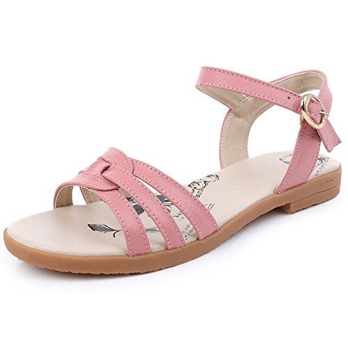 Verano Cómodo Match Un Sandalias Slip Todo De Planas OME Rosa amp;QIUMEI Con Sandalias Calzado Alumnas Playa TnYSxUq